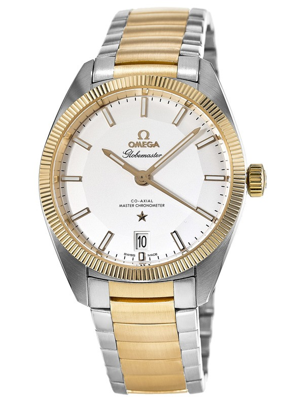 The durable fake Omega Constellation Globemaster 130.20.39.21.02.001 watches are made from stainless steel and yellow gold.