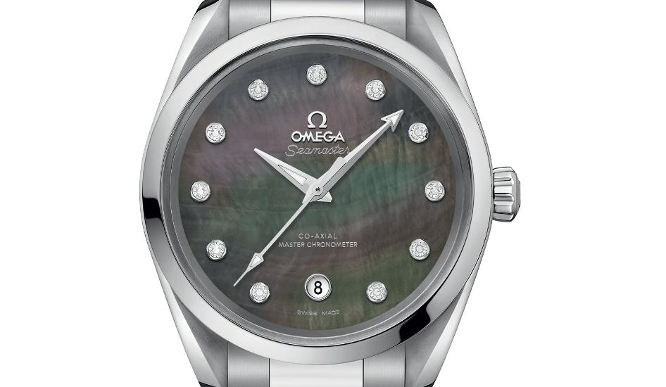 The 38 mm replica Omega Seamaster Aqua Terra 150M 220.10.38.20.57.001 watches have colorful mother-of-pearl dials.
