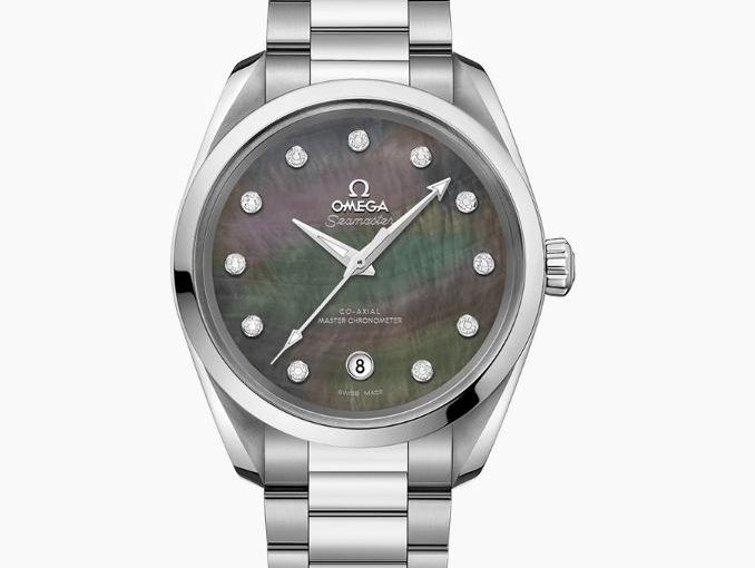 UK Replica Omega Seamaster Aqua Terra 150M 220.10.38.20.57.001 Watches With Colorful Mother-Of-Pearl Dials