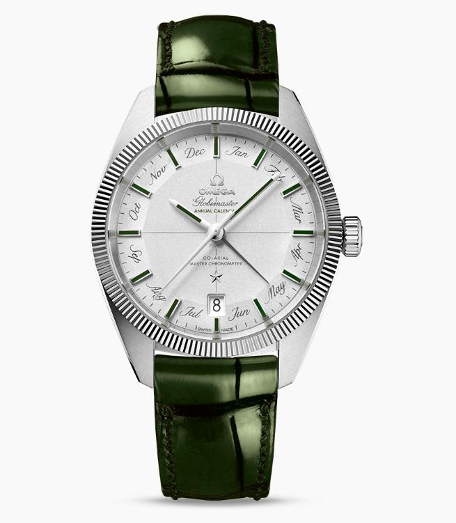 The superb fake Omega Constellation Globemaster 130.93.41.22.99.002 watches are made from platinum.