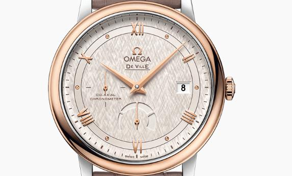 The 39.5 mm fake Omega De Ville Prestige 424.23.40.21.02.001 watches have silvery dials.