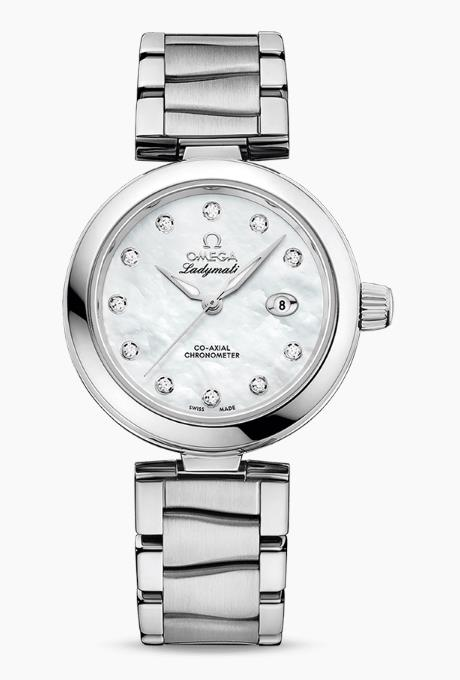 The female fake watches are made from polished stainless steel.
