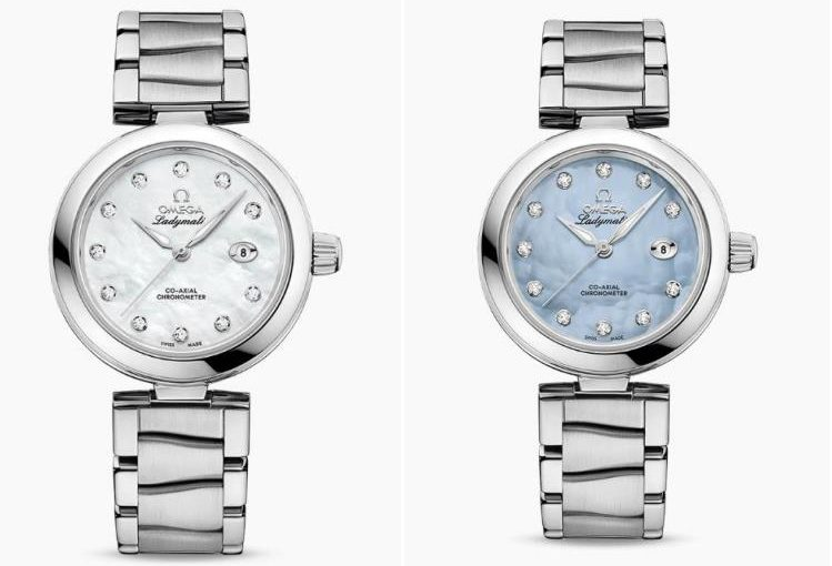 Two Female Watches Fake Omega De Ville Ladymatic UK Made From Polished Stainless Steel