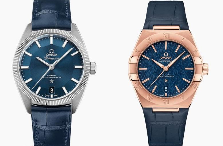 Introductions Of Two Blue Dials Fake Omega Constellation Watches UK