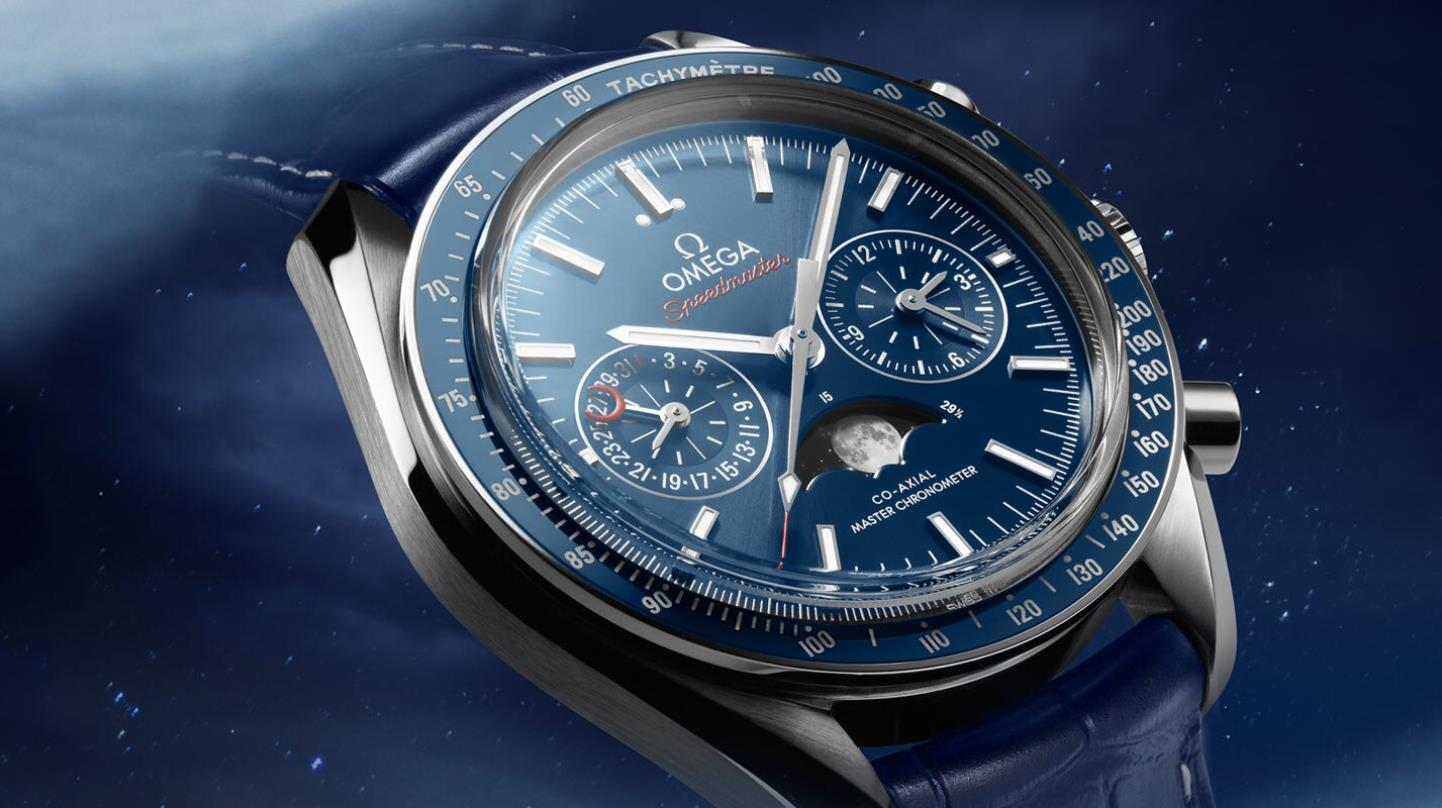 The blue dials copy watches have blue straps.