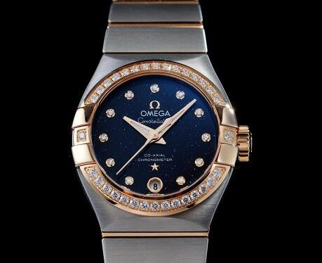 Review On UK Omega Constellation Replica Watches With Blue Starry Sky Dials