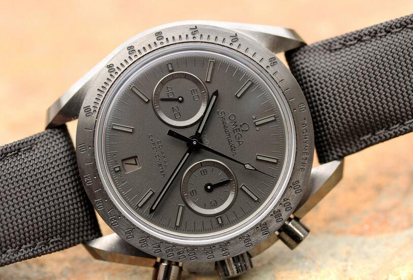 Online replica watches are textured for the black ceramic material.