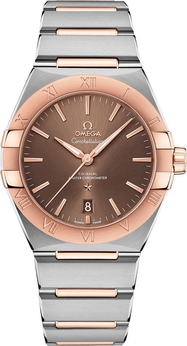 Male fake watches are charming for the brown color.